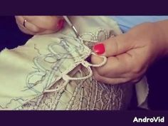 Poentles rucni rad,izrada(drugi deo)-Making of crochet-romanian lace(second part)