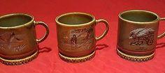 Set of 3 Collectible Vintage Wade Irish Porcelain SHAMROCK Mug Cup