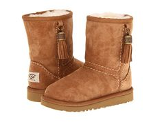 UGG Kids Classic Tassels (Toddler/Little Kid) Chestnut Suede - Zappos.com Free Shipping BOTH Ways