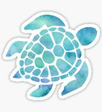 Sea Turtle Watercolor Blue and Purple Sticker - Blue Iphone 8 Case - Ideas of Blue Iphone 8 Case. - Sea Turtle Watercolor Blue and Purple Sticker Tumblr Stickers, Phone Stickers, Cool Stickers, Printable Stickers, Preppy Stickers, Vsco, Watercolor Stickers, Red Bubble Stickers, Aesthetic Stickers