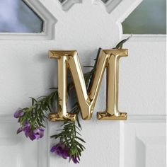 Monogram Door Knocker by Michael Healy from Through the Country Door®