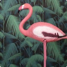 Roze flamingo voor buiten of binnen
