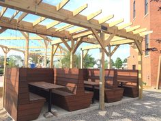 Hydraulic Hearth Beer Garden Seating Booth details Designed by Studio Prospect