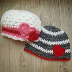 I'm so excited about this Valentine Set for a brother and sister! Coordinating but not the same.     #Handmade #QtsyLife #Crochet #Crocheted #Hat #Kids #KidsFashion #Fashion #CustomCrochet #MakersGonnaMake #MakersMovement #Handcrafted #ShopSmall #CrochetShop #ValentinesDay #Valentine #ValentineGifts #QtsyLifeCustomOrders