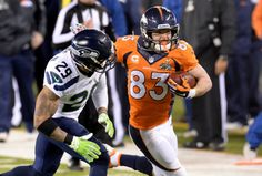 Denver Broncos wide receiver Wes Welker (83) runs for a first down during the third quarter against Seattle Seahawks free s...  #ProFootballDenverBroncos