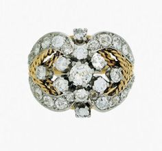 Anillo años 70 con oro y brillantes - 1970's ring with gold and brilliant cut diamonds