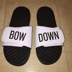 We The Best, DJ Khaled mens sandals. Brand new. Never worn. Original packaging. We The Best DJ Khaled mens sandals, Bow Down collection. We The Best Shoes Sandals