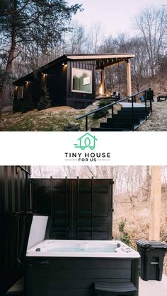 Shipping Container homes are growing in popularity. Catch a glimpse into this modern and sophisticated tiny house built from a shipping container! Tiny House Luxury, Modern Tiny House, Tiny House Living, Tiny House Design, Small House Plans, House Floor Plans, Dream Homes, Tiny Homes, Tiny House Community
