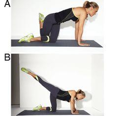 Molly Sims' Lower-Body Workout: Pretzel Arabesque