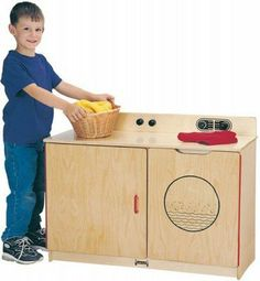 Jonti Craft Laundry Combo # 4140JC by Jonti-Craft. $394.25. Full length piano. Turnable knobs. KYDZHinged door. Compatible with kitchen link system. Washer and dryer have side opening doors. Kids can emulate mom and dad when they pretend to wash clothes in JontiCrafts Laundry Center. # 4140JC
