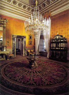 Yellow room, Royal Apartments, Palazzo Pitti, Florence, Tuscany, Italy
