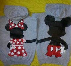 Cheesy Cute Girlfriend Gifts: His and Hers Matching Full Body Disney Mickey and Minnie Mouse Hoodies by DS Wishing Well @ Etsy Minnie Mouse Shirts, Mickey Minnie Mouse, Disney Mickey, Disney Couple Shirts, Disney World Shirts, Disneyland Trip, Disney Trips, Matching Hoodies, Sadie Hawkins