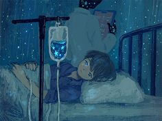 May all your worries be cured ❤️ Artist: unknown . Pretty Art, Cute Art, Aesthetic Art, Aesthetic Anime, Sad Art, Anime Scenery, Cute Drawings, Oeuvre D'art, Art Inspo