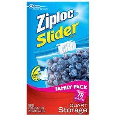 Ziploc Slider Quart Storage Bags, 76 count