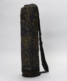 Take a look at this Black Embroidered Chic Yoga Mat Bag by OMSutra on   zulily 85eeeb29416ea