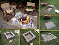DIY Fireplace Ideas - Outdoor Firepit On A Budget - Do It Yourself Firepit Projects and Fireplaces for Your Yard, Patio, Porch and Home. Outdoor Fire Pit Tutorials for Backyard with Easy Step by Step Tutorials - Cool DIY Projects for Men and Women Easy Fire Pit, Large Fire Pit, Metal Fire Pit, Concrete Fire Pits, Backyard Projects, Outdoor Projects, Diy Projects, Backyard Ideas, Garden Ideas