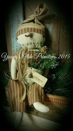 Primitive Snowman Doll Winter Christmas #NaivePrimitive