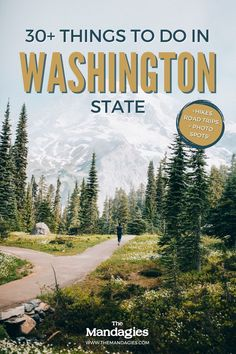 Discover the best things to do in Washington right here! We're sharing everything from the best national parks in Washington (North Cascade, Mount Rainier, Olympic) to the best Washington waterfalls, beaches in Washington, and so much more. Save this for your next big trip to the Pacific Northwest! #washington #seattle #washingtonstate #hiking #waterfalls #olympicnps #northcascades #mountrainier