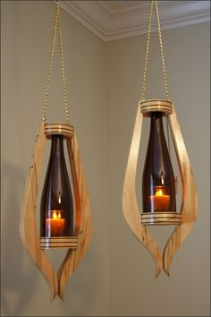 Candle Lamp, Candle Sconces, Wood Bike Rack, Wood Shop Projects, Wooden Chandelier, Rustic Candles, Woodworking Box, Wood Joinery, Lamp Design