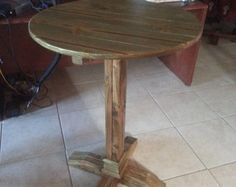 Items similar to Pallet high top Bar Table/ Pub Table on Etsy