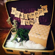 Honeymoon fund suitcase - rustic wedding - winter wedding