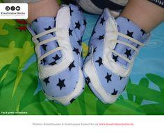 Babyschuhe, zum Schnittmuster: http://www.kreativlaborberlin.de/mein-buch-babyschuehchen-naehen/