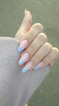 Looking for easy nail art ideas for short nails? Look no further here are are quick and easy nail art ideas for short nails. Best Acrylic Nails, Acrylic Nail Designs, Winter Acrylic Nails, Swag Nails, My Nails, Glitter Nails, Fire Nails, Pastel Nails, Blue Nails Art