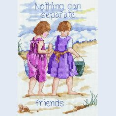Nothing Can Separate Friends - Janlynn counted cross stitch kit