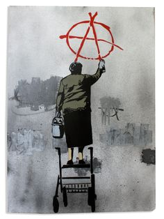 Street art or graffiti has always been an integral part of anarchist culture. Below are some of the best examples of anarchist graffiti from around Britain. Banksy Graffiti, Arte Banksy, Street Art Graffiti, Bansky, Arte Punk, Photographie Portrait Inspiration, Prince Charmant, Art Watch, Political Art