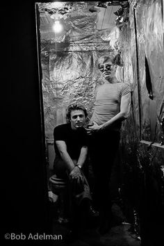 Andy Warhol With His Assistant Gerard Melanga In Silver Foil