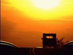 Truck Camper Sunset