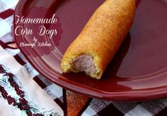 The Texas State Fair will be here soon! It got me thnking about these yummy Homemade Corn Dogs.