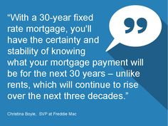 Quote from Christina Boyle, SVP at Freddie Mac   - Monthly Market Report January 2015 #LoveYourHome #RealEstate #Homes