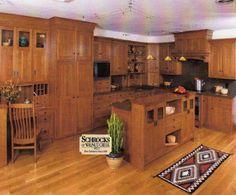 paint colors for honey oak trim | mission style kitchen cabinet