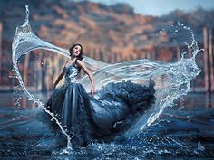 This reminds me of a tidemaker from @Leigh Bardugo's Grisha Trilogy!  TIDEMAKER  Spirit Released by SelinaDeMaeyer