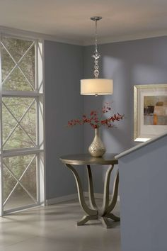 This art deco style ceiling pendant is sure to complement any bedroom, entry, kitchen, dining room or hallway