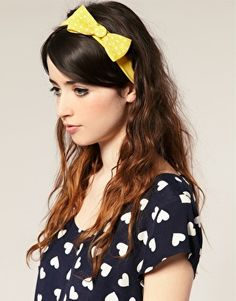 ASOS Polka Dot Bow Stretch Head Band  $10.98 (I like her heart print too)