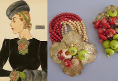 vintage Miriam Haskell...American jewelry designer who created beautiful costume jewelry pieces from the 1920's thru the 1950's