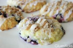 I love anything lemon. Lemon flavored, lemon scented, the color of lemons. Divine! So when I found this recipe for Lemon Blueberry Scones on Be Book Bound, I couldn't wait to try them! The le…