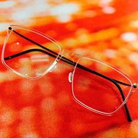 Why yes, this is a cool clear frame.  Lindberg Eyewear