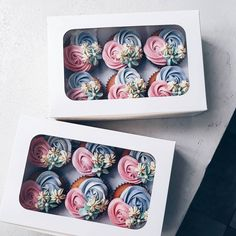 "1,426 Likes, 6 Comments - pretz eugenio | BAKER P (@bakerp_) on Instagram: ""Cupcake box of six ♡ Perfect Holiday giveaways for friends & loved ones. Place your Pre-order now!…"""
