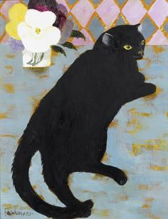 Mary Fedden R.A. (British, born 1915) Lulu 46.5 x 35.5 cm. (18 1/4 x 14 in.)