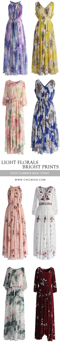 Find More Summer Maxi Dresses at chicwish.com
