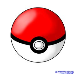 How to Draw a PokeBall, Step by Step, Pokemon Characters, Anime ...