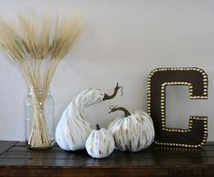 Gilded Gourds Fall Decor - Addicted 2 DIY