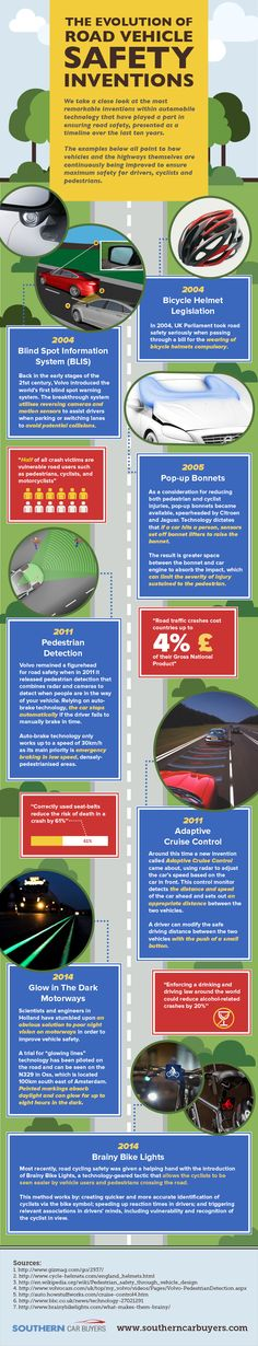 The Evolution of Road Vehicle Safety Innovations #infographic