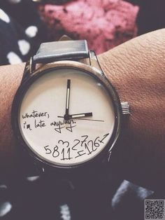 5. #Whatever, I'm Late Anyways... Watch - 46 Beautiful Women's #Watches… #Watch
