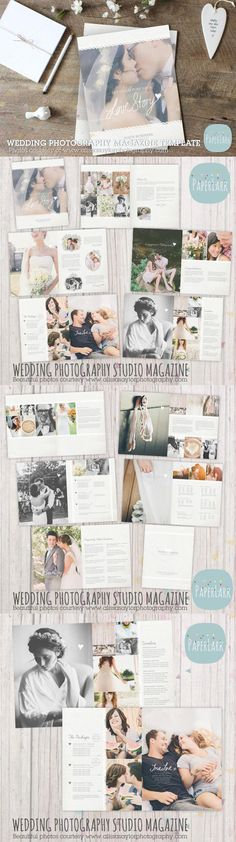 #magazine #design from Paper Lark | DOWNLOAD: https://creativemarket.com/PaperLarkDesigns/552407-PG009-Wedding-Photography-Magazine?u=zsoltczigler