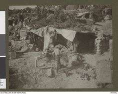 Typical accommodation on Gallipoli. 1915