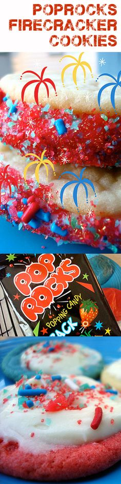 4th of July Poprocks Firecracker Cookies! Awesome!! via Kathy Iverson